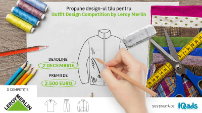 [Crafted Outfit] Hai sa-ti inscrii primul proiect de bricolaj vestimentar, intr-o competitie de design by Leroy Merlin & IQads