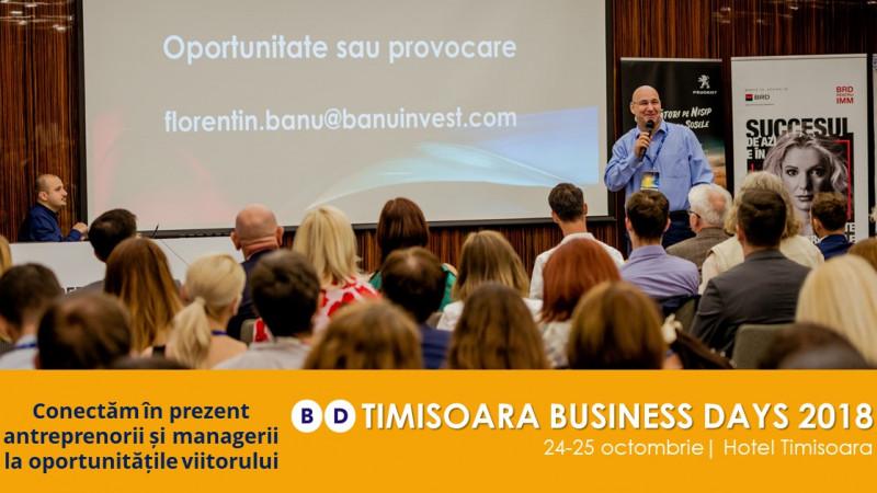 Business Days aduce la Timișoara cei mai cunoscuți oameni de business și, în premieră, programul 1NSPIRING Day