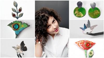 [fresh x design] Iuliana Asoltanei: Mi-am dat seama ca, involuntar, fac unele din cele mai colorate bijuterii din Romania