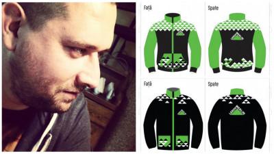 """[Crafted Outfit] O idee venita """"din voleu"""". Mihai Szabo si-a imaginat echipamentul clubului sportiv Leroy Merlin"""