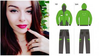 [Crafted Outfit] Nicoleta Dajbog a gândit o uniformă practică, plecând de la tema amabilității