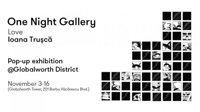 Globalworth District găzduiește expoziția pop-up by Ioana Trușcă, curatoriată de One Night Gallery