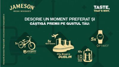 Jameson Irish Whiskey celebrează momente pe gustul tău, împreună cu Pegas, Optimef și Urban Bag
