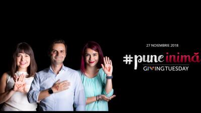 România #puneinima de Giving Tuesday, pe 27 noiembrie