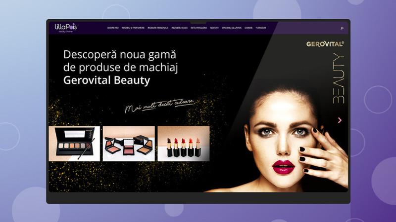 LillaPois - Frumusețea nu este un lux, design și dezvoltare website