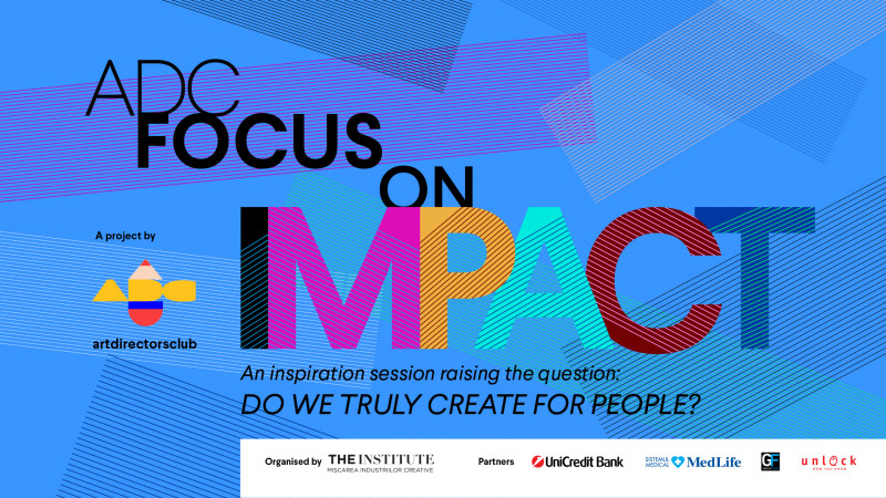 "Anu Niemonen (hasan & partners), Kris Hoet (FCB Global) şi Conn Bertish (Cancer Dojo) pe scena ""ADC Focus on Impact"""