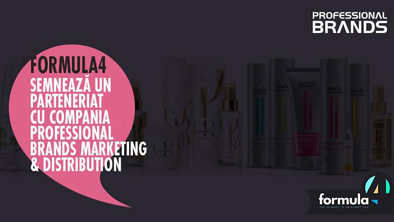 Divizia de traninguri corporate Formula4 semnează un parteneriat cu compania Professional Brands Marketing & Distribution, lider local în piața profesională de îngrijire a părului
