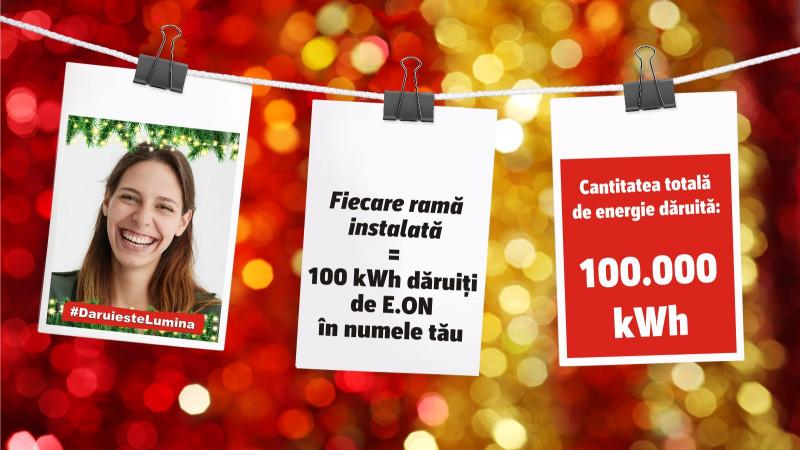 Dăruim în Echipă: E.ON România le oferă românilor 100.000 de kWh pe care să îi dăruiască mai departe