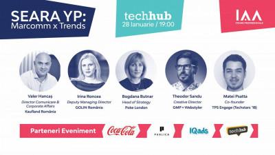 Cele mai noi tendințe în marketing și comunicare se definesc la Seara YP - Marcomm x Trends: 2019, ediția a IV-a