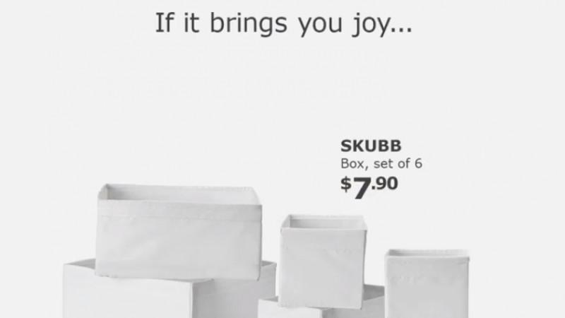O ironie minimalistă de la Ikea
