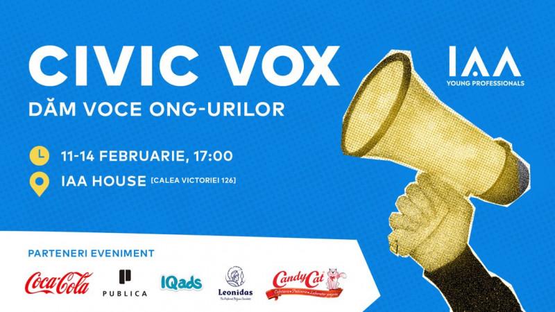 """IAA Young Professionals susține comunicarea inițiativelor civice prin 4 workshop-uri în cadrul proiectului """"Civic Vox - Dăm voce ONG-urilor"""""""