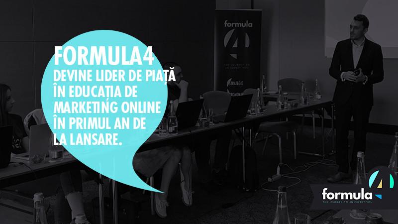 Formula4 devine lider de piață în educația de marketing online în primul an de la lansare