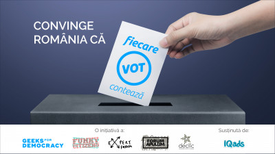 Te invitam la o competitie creativa ca nicio alta. Participa si Convinge Romania ca Fiecare Vot Conteaza!