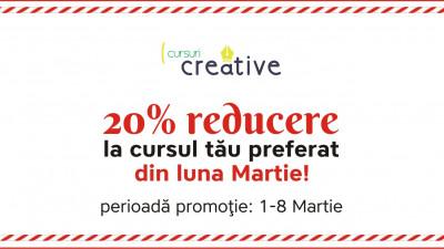 Cursuri Creative lansează programa de primăvară cu reduceri de 20%