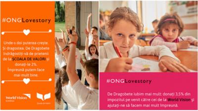 Asociația Școala de Valori și World Vision România se susțin reciproc printr-o campanie inedită