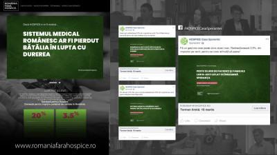 """""""România fără Hospice"""", campanie gândită si promovată de ThinkDigital, a generat 37% din bugetul fundației Hospice pe anul 2018"""