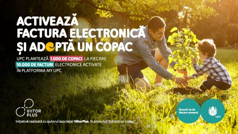 UPC România plantează 1.000 de copaci la fiecare 10.000 de facturi electronice activate