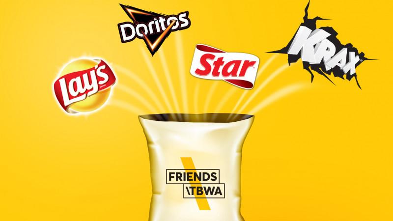 Friends\TBWA se alătură PepsiCo în comunicarea portofoliului de snacks (Lay's, Doritos, Star & Krax)