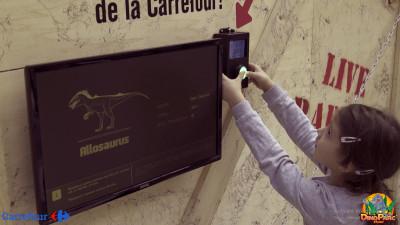 Carrefour îi găsește dinozaurului Benji Allosaurus casă nouă la Dino Parc Râșnov