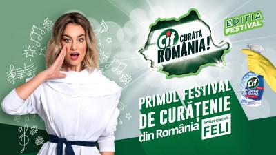 Cif Curăță România – Ediția Festival: 2 acțiuni de curățenie și concerte live susținute de Feli, la Timișoara și Constanța