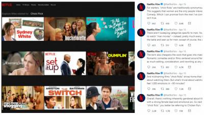 Netflix iscă o ceartă în legătură cu filmele pentru femei