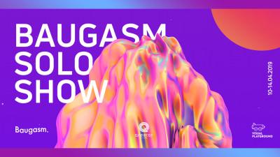 Expoziția Baugasm Solo Show - parte din Visual Playground 2019, la Qreator