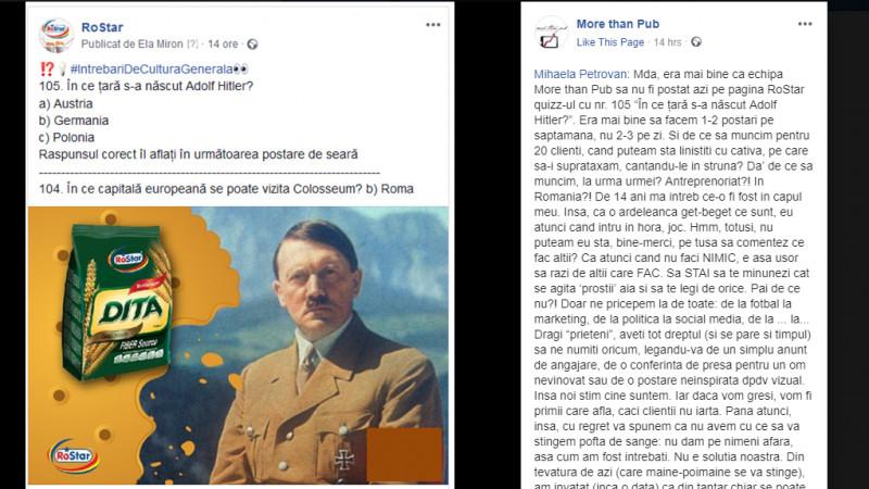 Cum să agravezi o criză de PR. Biscuiții, Hitler și More than Pub