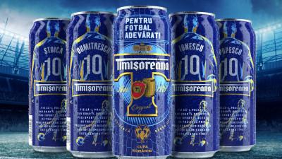 Eroii adevărați inspiră fotbalul adevărat.Timișoreana lansează o ediție limitată de cutii de bere inscripționate cu 120 dintre cele mai populare nume de familie din România
