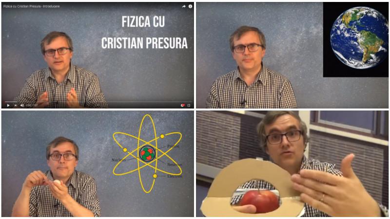 [România pe YouTube] Cristian Presură şi fizica pe înţelesul tuturor: Mă simt ca un copil, aşa cum am fost mereu, explicând altor copii