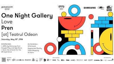 Realitate augmentată tridimensională la One Night Gallery Love Prenfacilitată de dARe by Samsung