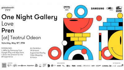 Realitate augmentată tridimensională la One Night Gallery Love Pren facilitată de dARe by Samsung