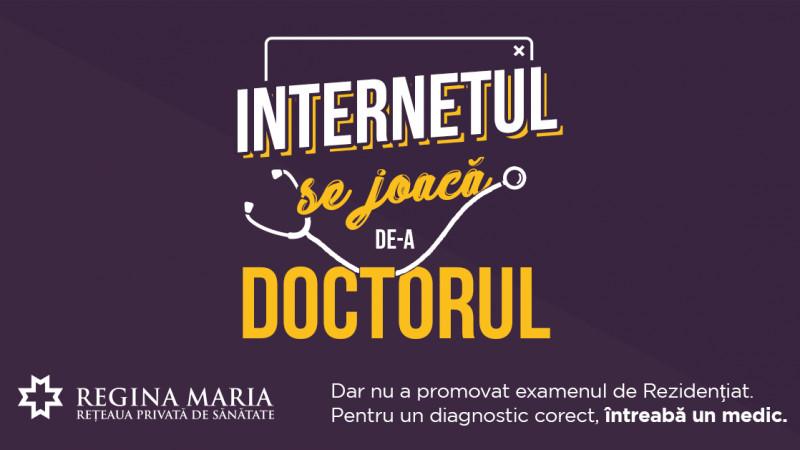 Internet vs. Rezidențiat – REGINA MARIA a testat Internetul ca pe un doctor, într-un efort de conștientizare a riscurilor autodiagnosticării online