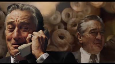 Robert De Niro, într-o reclamă la covrigi