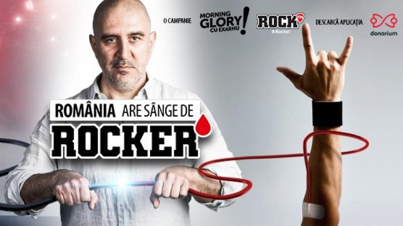 """Peste 1.000 de români cu sânge de rocker au descărcat aplicația Donorium, în primele 4 zile ale campaniei Morning Glory și ROCK FM – """"România are sânge de rocker"""""""