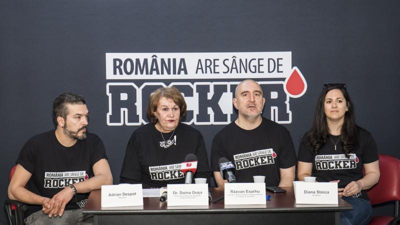 """Nevoia de sânge în România, dublă față de colectare:MORNING GLORY, matinalul postului de radio Rock FM, inițiază o campanie națională menită să crească numărul donatorilor și să arate că""""România are sânge de rocker"""""""