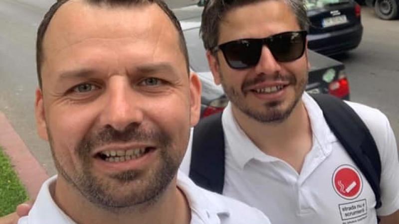 Răzvan Buşulescu, Marian Rădună: 'Nu arunca chiștoace - Strada nu e scrumieră'