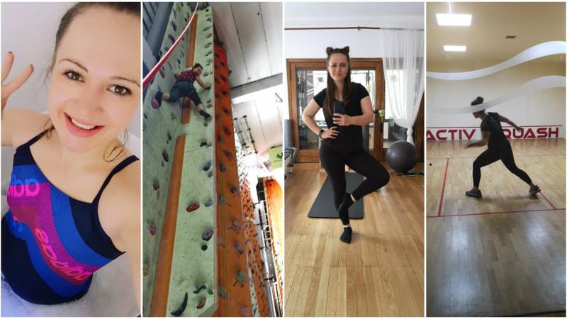 """Andreea Irimia învață un sport nou în fiecare lună. """"Sa incepi e cea mai grea parte"""""""