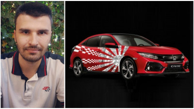 [CIVIC 5D in haine noi] Un simbol al Japoniei accesorizat cu motive din tehnologie si motorsport. Propunerea lui Alexandru Cercanau
