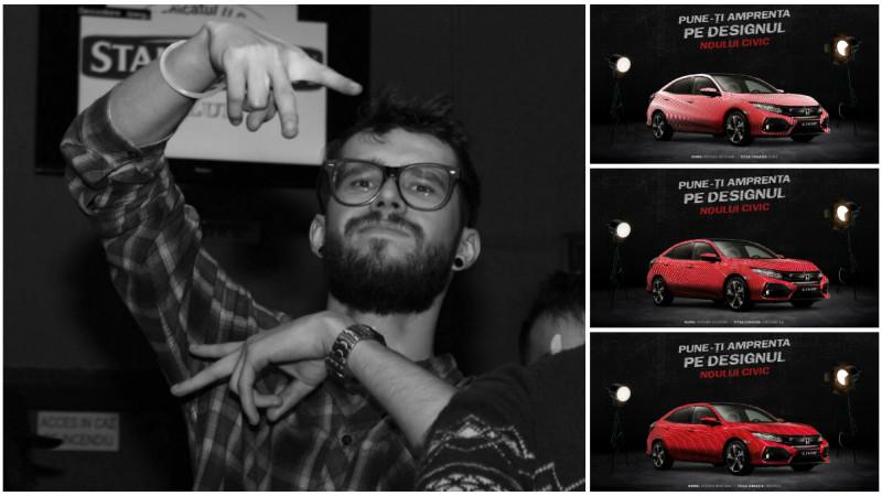 [CIVIC 5D in haine noi] Futurism si iluzii optice intr-o serie de 3 designuri gandite de Bogdan Petean