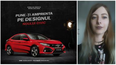 [CIVIC 5D in haine noi] Teodora Seredan si un design gandit in jurul unghiurilor indraznete ale modelului Honda Civic 5D