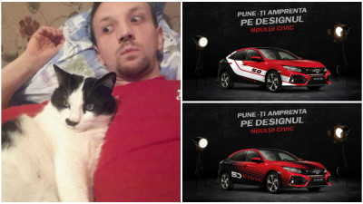[CIVIC 5D in haine noi] Bogdan Craciunas a pus grafica de circuit pe modelul Honda Civic 5D