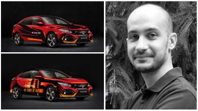[CIVIC 5D in haine noi] Bogdan Petcu si doua propuneri croite integrat pe designul modelului Honda Civic 5D