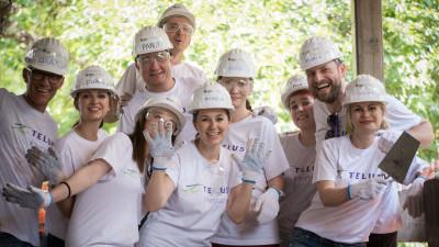 TELUS International continuă parteneriatul cu Habitat for Humanity pentru finalizarea Centrului Comunitar Buftea