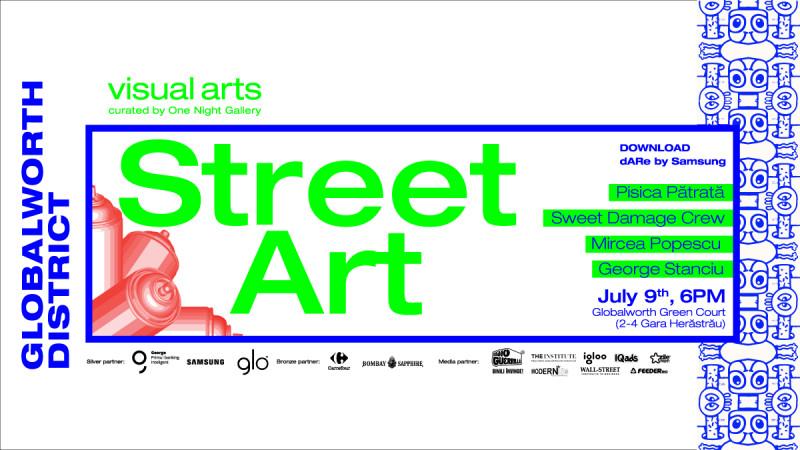 Street art și tehnologie în Globalworth District, într-o nouă ediție dedicată artelor vizuale