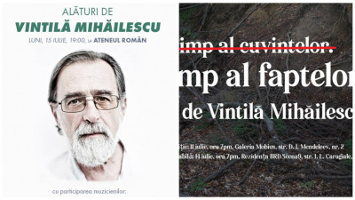 Artiști, prieteni, cititori alături Vintilă Mihăilescu