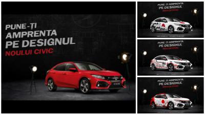 Honda Civic imbraca haine noi. De printre 150 de inscrieri s-au ivit cei 3 castigatori ai CIVIC 5D Design Challenge