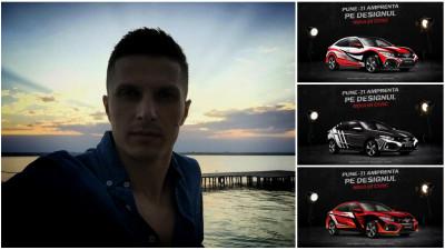 [CIVIC 5D în haine noi] Mihai Onțanu propune 3 direcţii grafice nuanţate pentru Honda Civic, plecând de la atributul sportivitate