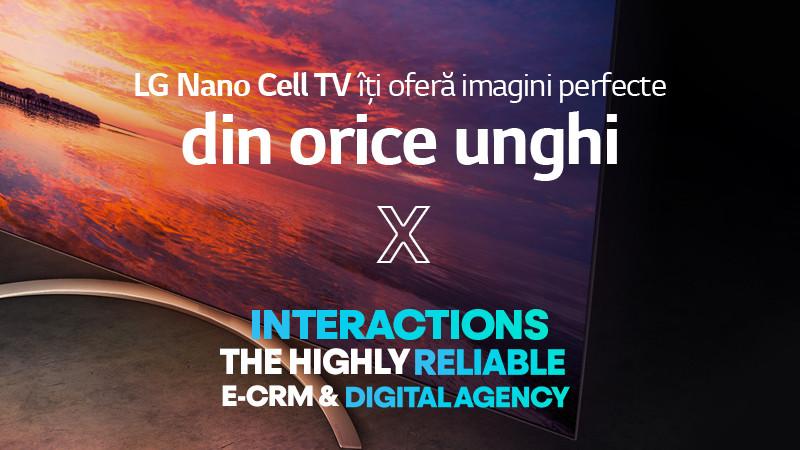 LG și INTERACTIONS surprind puritatea culorilor în noua campanie Nano Cell TV