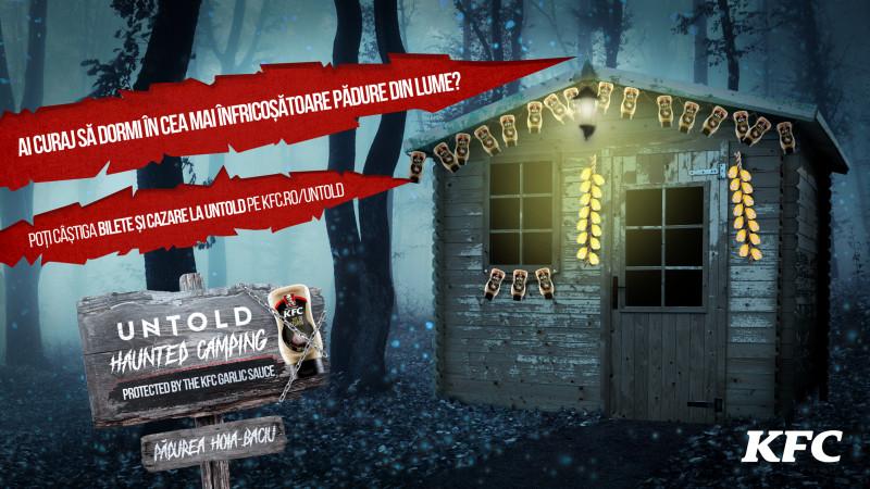 KFC România anunță primul Haunted Camping din cadrul festivalului Untold, în una dintre cele mai înfricoșătoare păduri din lume