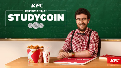 KFC România dă startul celei de a doua ediţii Studycoin, programul care oferă elevilor oportunitatea de a-și transforma cunoștințele în discount-uri la KFC